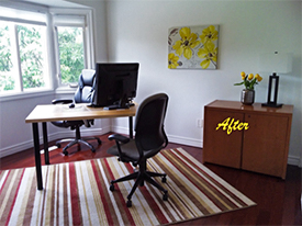 Oakville After Home Office Staging