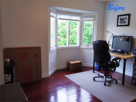 Oakville Before Home Office Staging