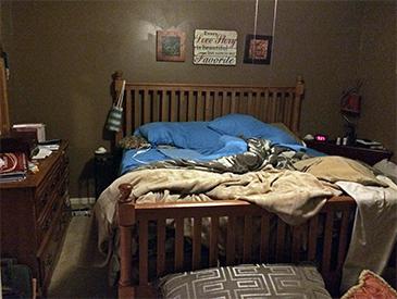 North Carolina Bed Before