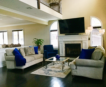New York Living room Staging After