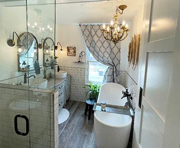 Renewed Perspective Bathroom Staging After