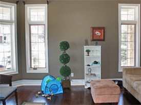 home staging a living room